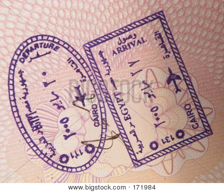 Egypt Airport Stamps 2