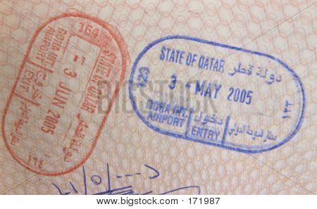 Qatari Passport Stamps