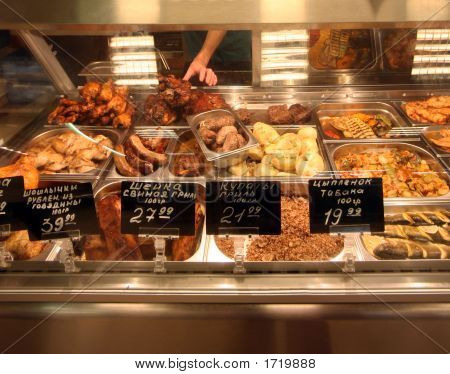 Counter With Meat
