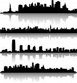 stock photo of new york skyline  - New York City skylines - JPG