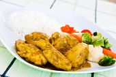 stock photo of curry chicken  - Curried chicken  - JPG