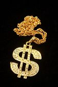 picture of gangster necklace  - Dollar symbol necklace - JPG