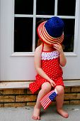Little Girl 4Th Of July