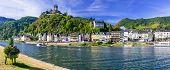 Travel in Germany - river cruises in Rhine river, medieval Cochem poster