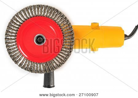 Angle grinder. Isolated