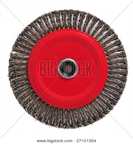 Wire brush disk.
