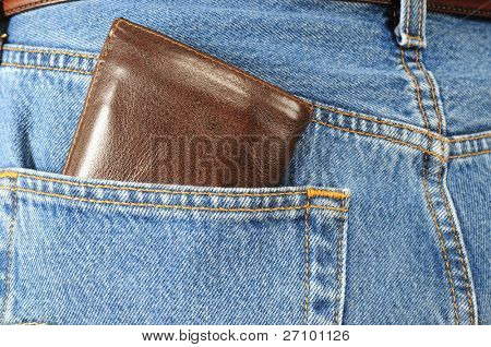 Wallet out of a back pocket.