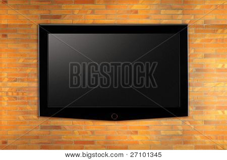 Wide LED television.