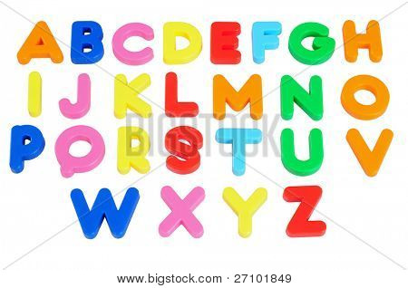 Alphabets. Isolated