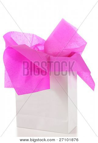 Gift bag. Isolated
