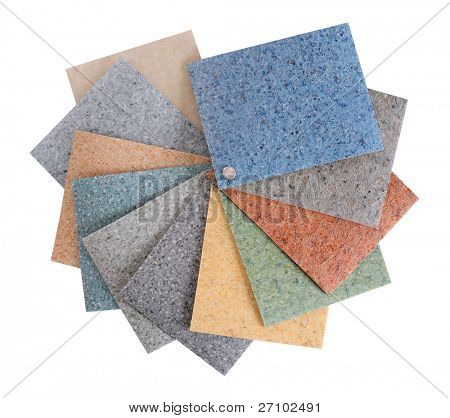 Paleta de goma del suelo. Aislado