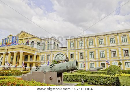 Military Cannon Vintage  Building