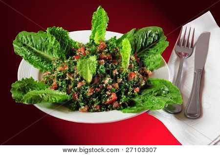 Tabouleh. Clipping path.