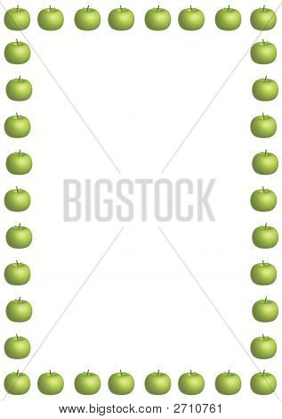 Green Apple Border Large Image & Photo | Bigstock