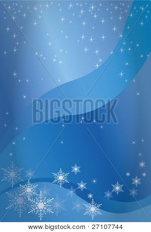 Winter Background (Fully Editable Vector Image)