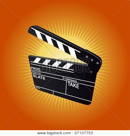 Film Clapboard (editable vector) - also available rasterized jpeg in this gallery