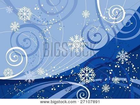 Winter Holidays (editable vector). In the gallery also available XXL jpeg image made from this vector