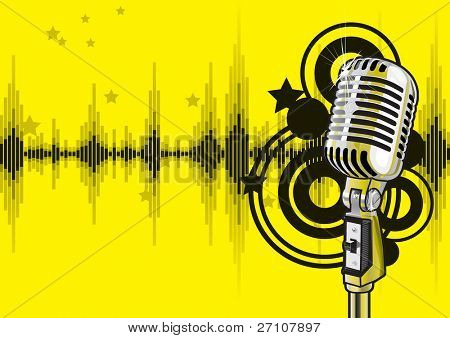 Music Event Design (editable vector). In the gallery also available XXL jpeg image made from this vector