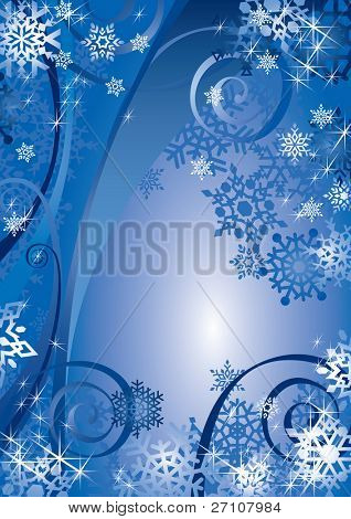 Snowflakes Design (vector). In the gallery also available XXL jpeg image made from this vector