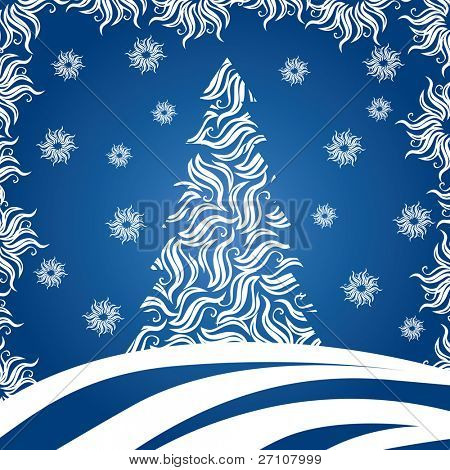Christmas Tree (vector). In the gallery also available XXL jpeg image made from this vector