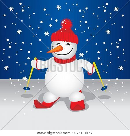 Cute Snowman (vector). In the gallery also available XXL jpeg image made from this vector