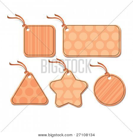 Tags (vector). In the gallery also available XXL jpeg image made from this vector