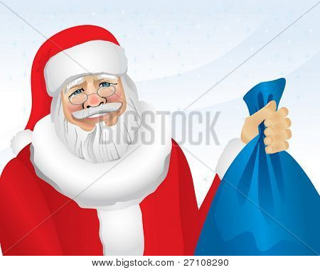 Santa With Presents (vector). In the gallery also available XXL jpeg image made from this vector