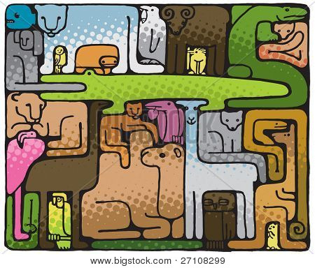 Animal Puzzle (also available vector version of this image in our gallery)