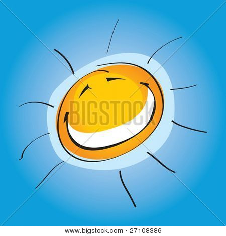 Smiley Sunny (vector). In the gallery also available XXL jpeg image made from this vector