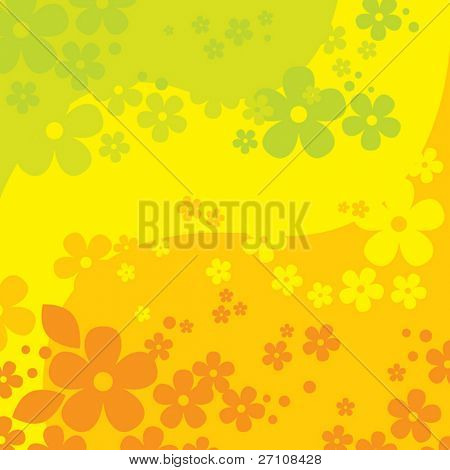 Flowers Background  (vector). In the gallery also available XXL jpeg image made from this vector