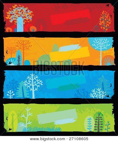 Banners de la naturaleza (cada bandera es escalable para el pix de standart internet banner tamaño 160 x 600)