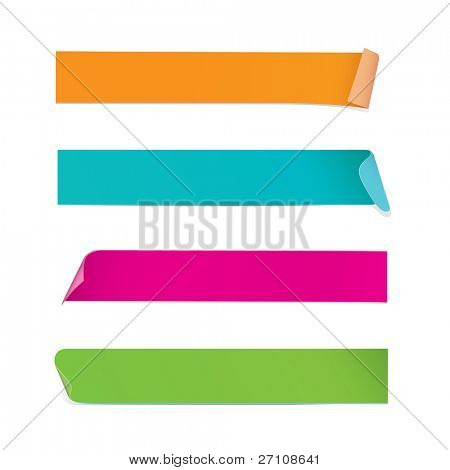 Colorful Stickers (vector). In the gallery also available XXL jpeg image made from this vector