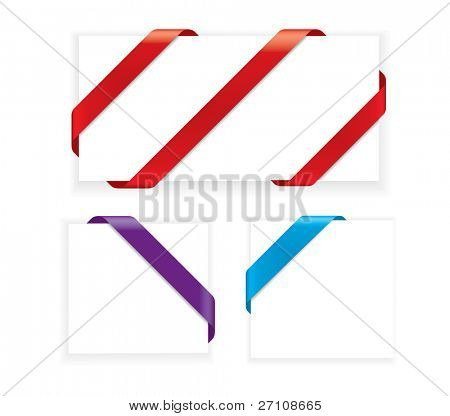 Corner Ribbons (vector). In the gallery also available XXL jpeg image made from this vector