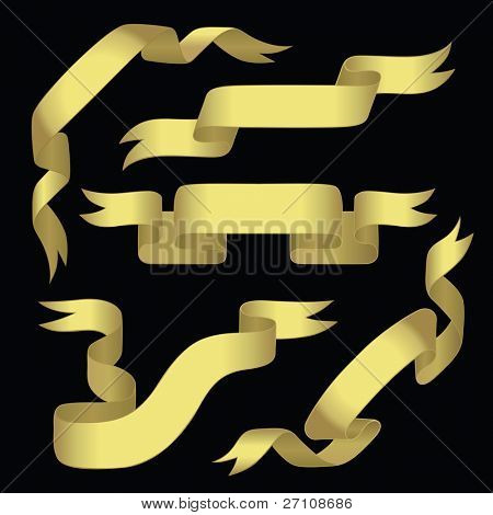 Golden Banners With Space For Text (vector). In the gallery also available XXL jpeg image made from this vector