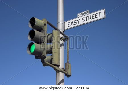 Easy Street With Green Light