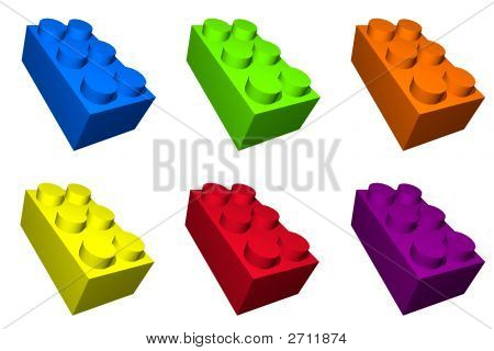 Colorful Toy Build Blocks For Children