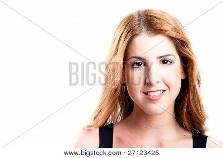 Smiling Redhead Looking At Camera