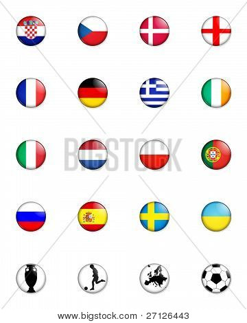 Euro 2012 European Championship Button Badges
