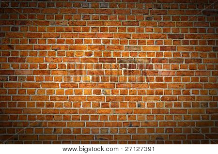 Red Brick Wall Texture With Vignette