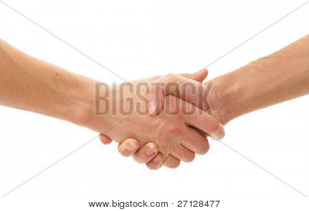 Hands isolated over white background
