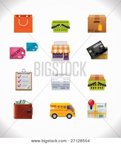 Comercial icon set vector