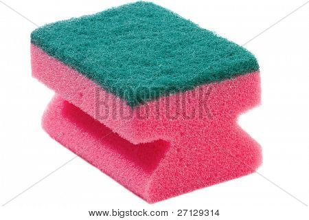 Sponge for ware washing. Isolated over white.