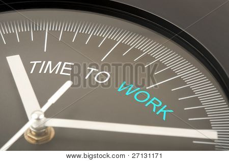Time to work text on clock