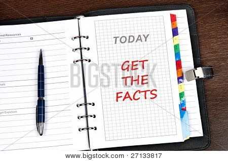 Get the facts message on today page