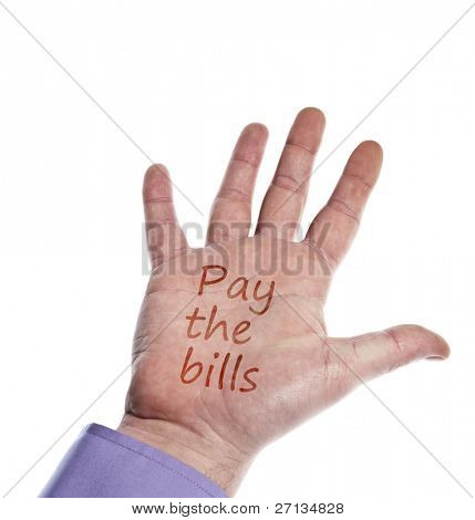 Pay the bills writed on hand