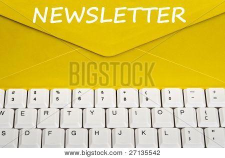 Newsletter message on envelope