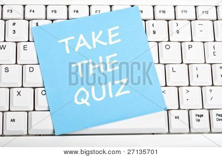 Take the quiz message on keyboard