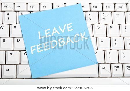 Feedback mesage on keyboard