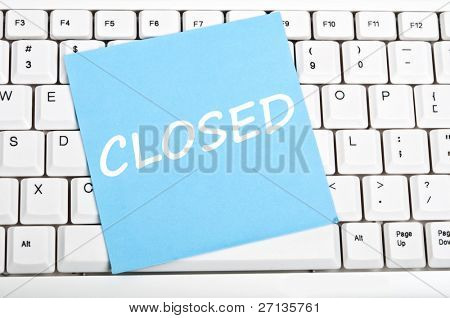 Closed mesage on keyboard