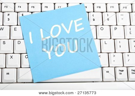I love you mesage on keyboard